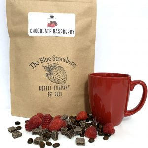 Chocolate Raspberry Coffee Bag, Raspberry, Red Cup